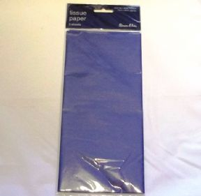 5 Sheets Of Blue Tissue Paper 750mm x 500mm